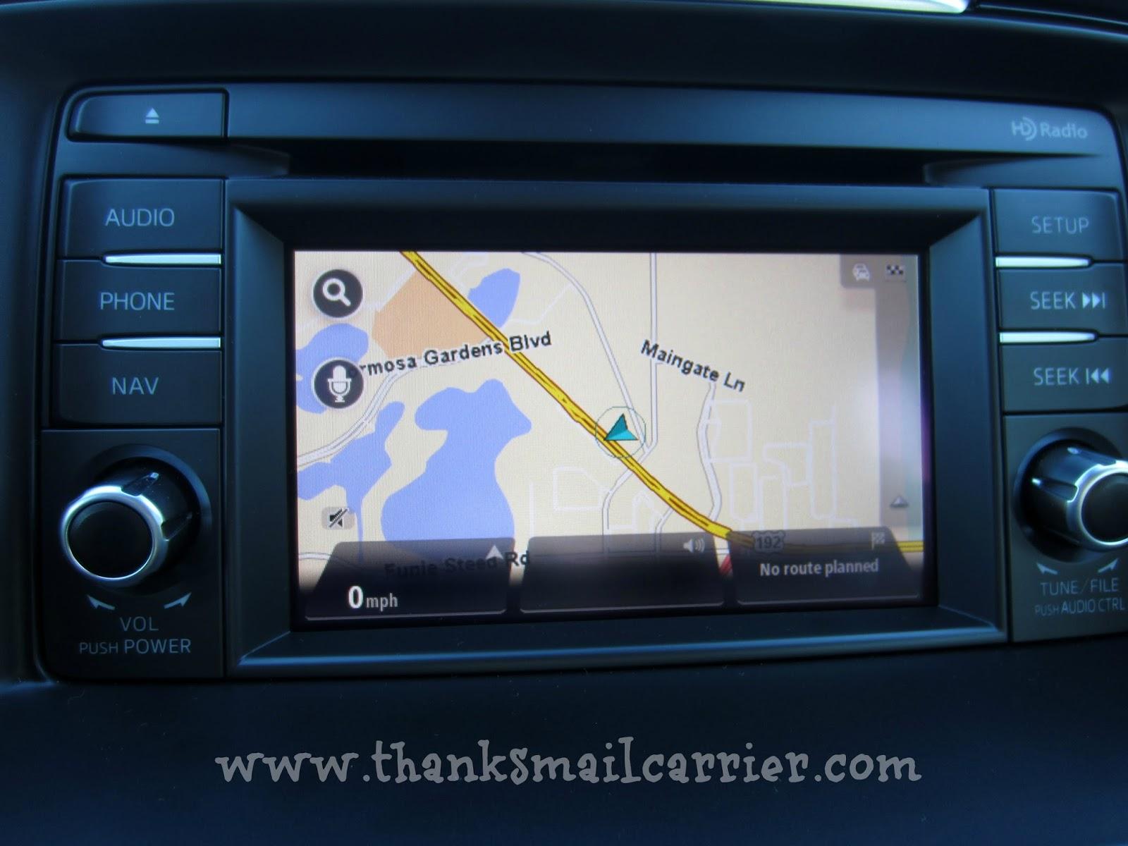 Mazda navigation system