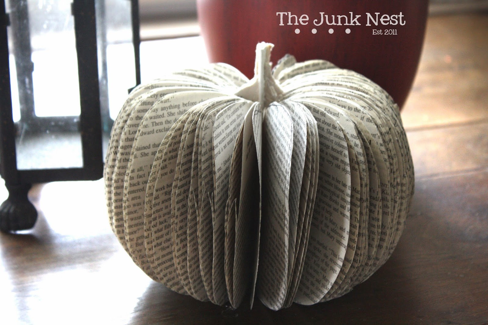 DIY Book Page Pumpkin