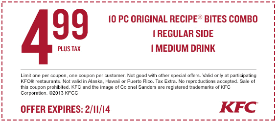 kfc coupons 2015 sydney - photo#23