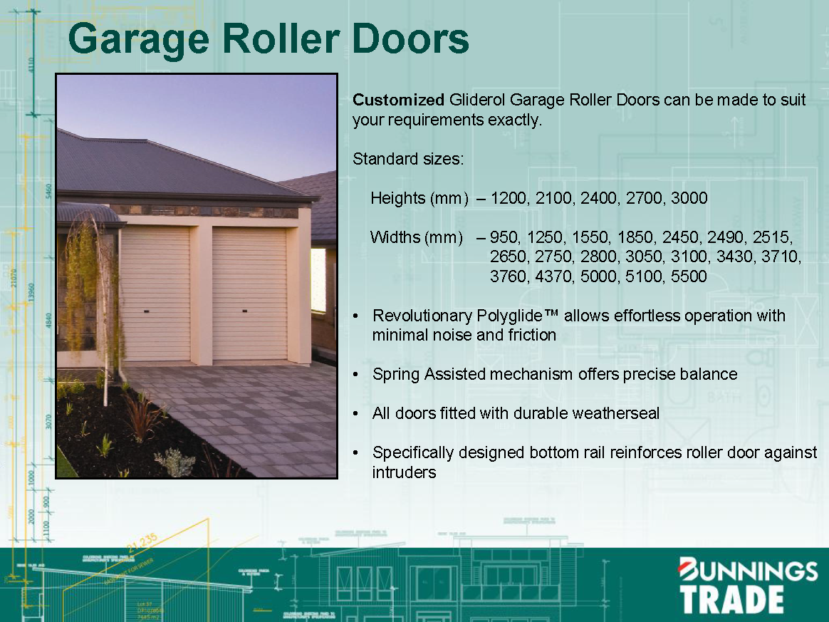 Standard Garage And Shed Roller Door Sizes Building The