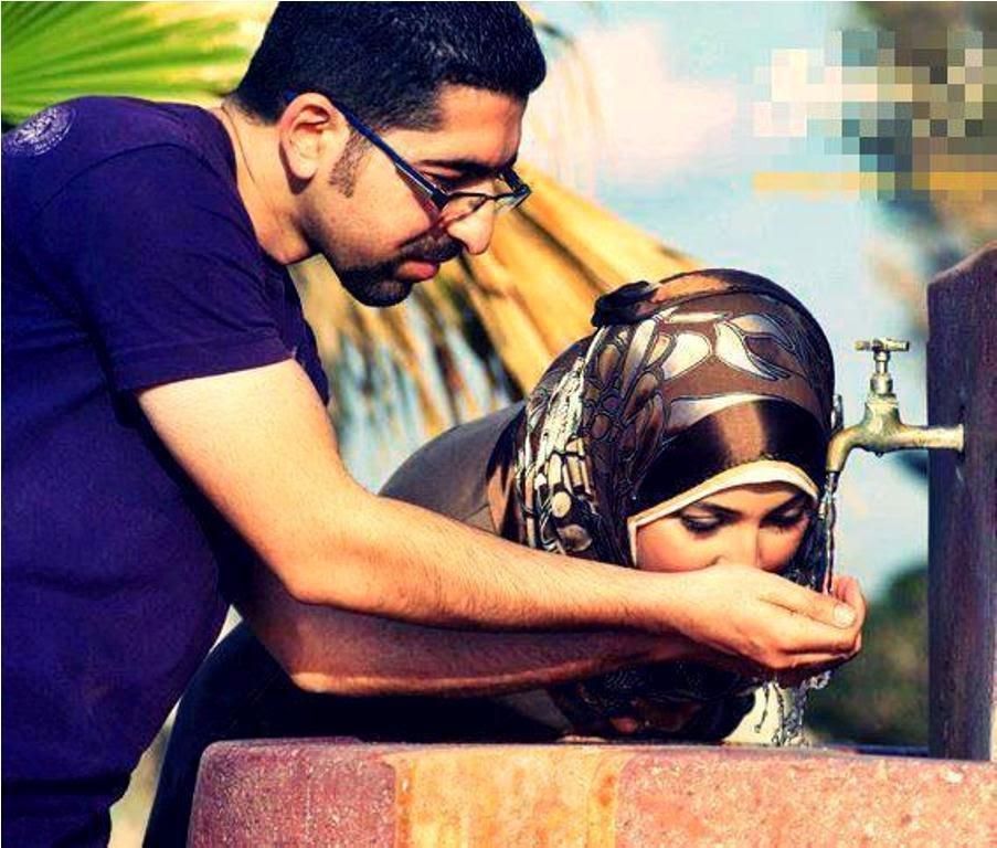Wallpaper gambar kartun muslim berpasangan