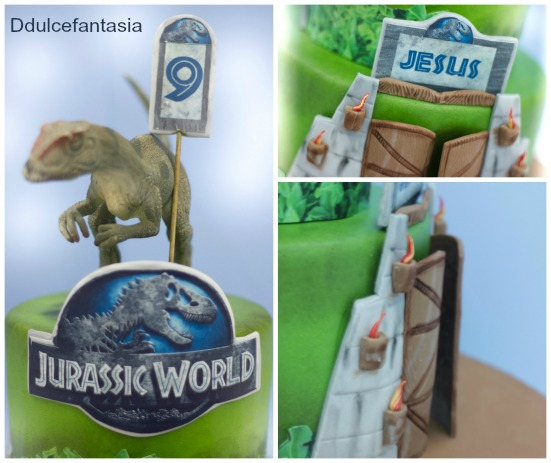 D dulce fantasia tarta jurassic world for Puerta jurassic world