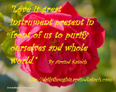 Love, instrument, purify, world, Daily Thought, Thought of Day,