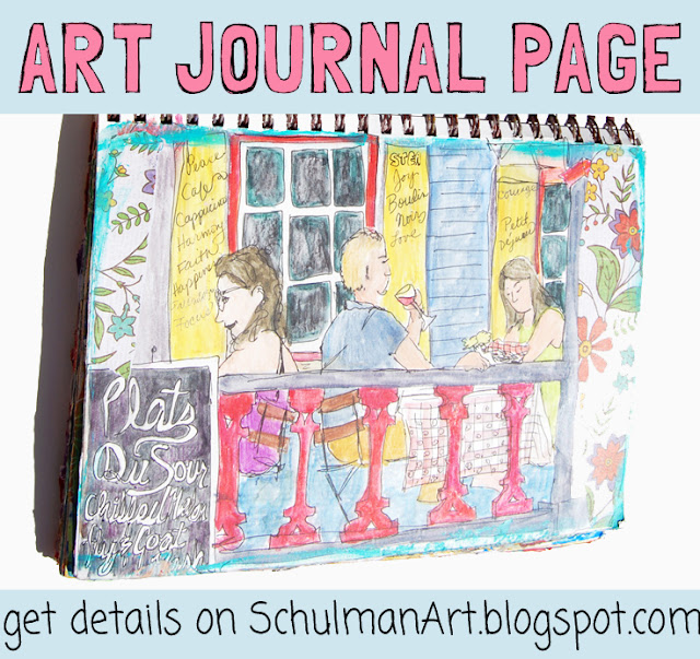 art journal page | art journal idea | http://schulmanart.blogspot.com/2015/09/an-art-journal-in-search-of-happiness.html