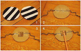 how to make a cardboard rattle drum musical toy for kids