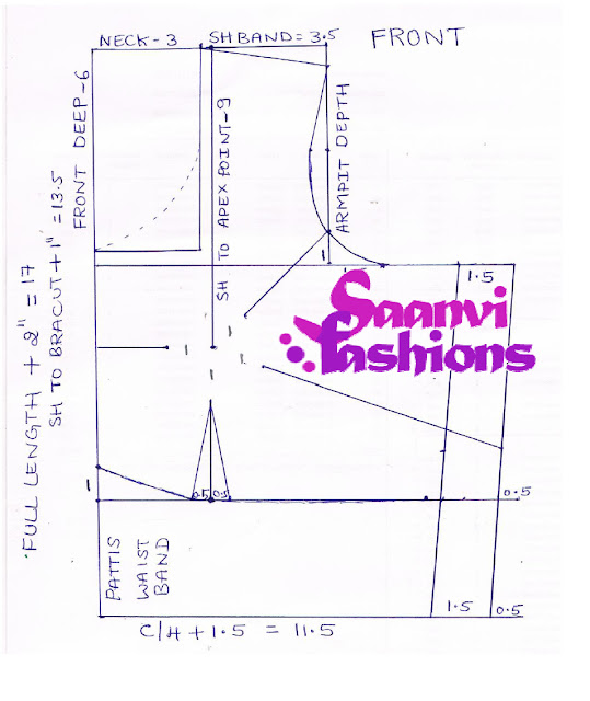 Blouse Cutting Draft 84