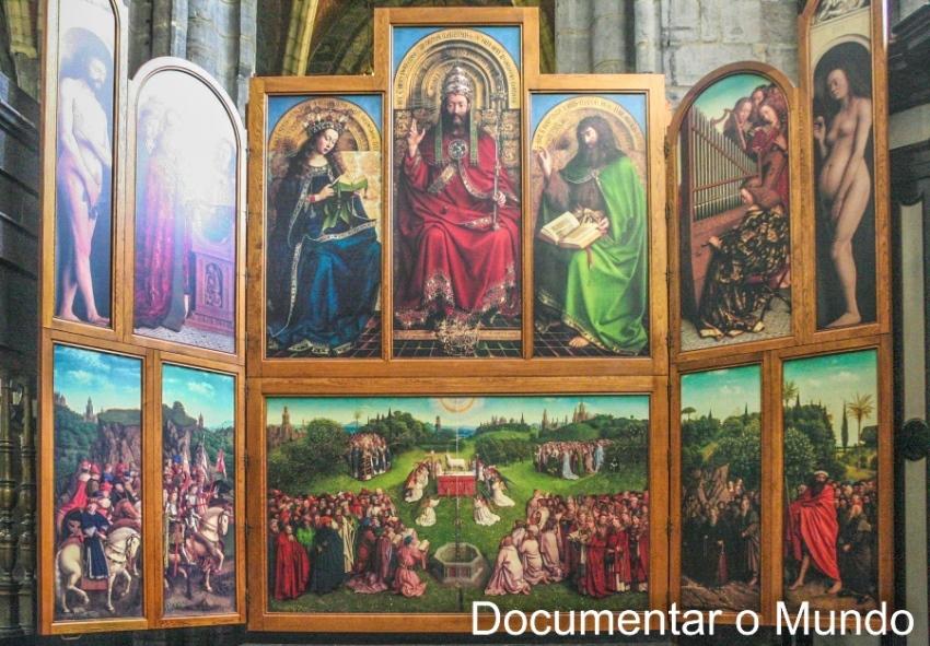 Catedral de São Bavo; Sint-Baafskathedraal; Adoração do Cordeiro Místico; Van Eyck; Bélgica; Gent; Flandres