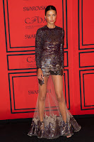 Adriana Lima strikes a pose on the red carpet