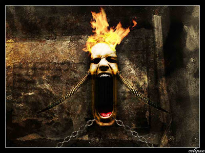 Scary Screams Wallpapers With Fire