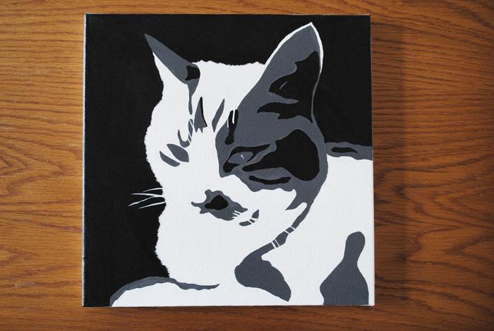 Dutch design on a budget diy zwart wit portretten schilderen - Schaduw maken ...