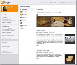Novo visual do blogger