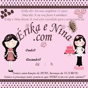 Blogg da Mirian: Convite de aniversário rosa com poá marrom