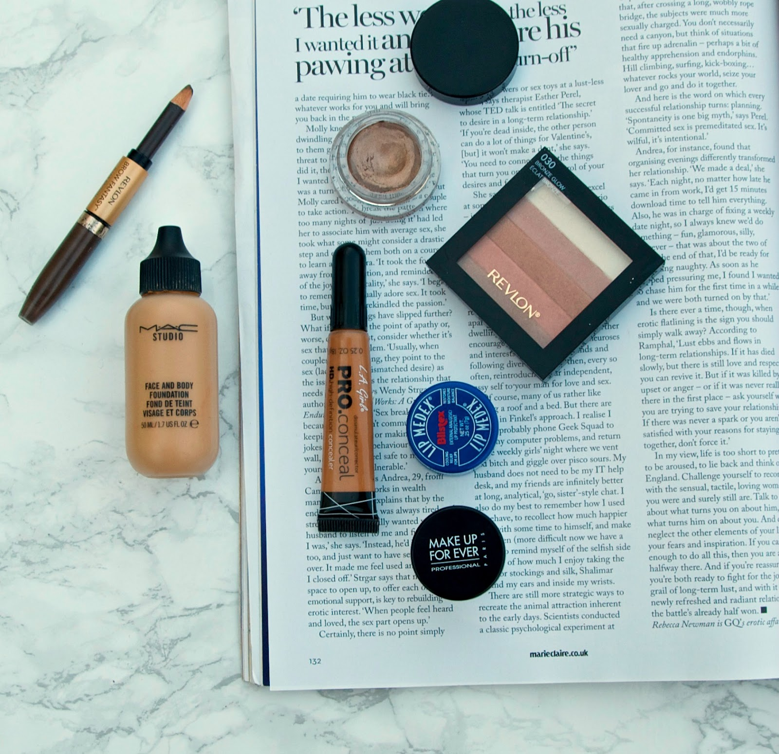 mac face and body foundations