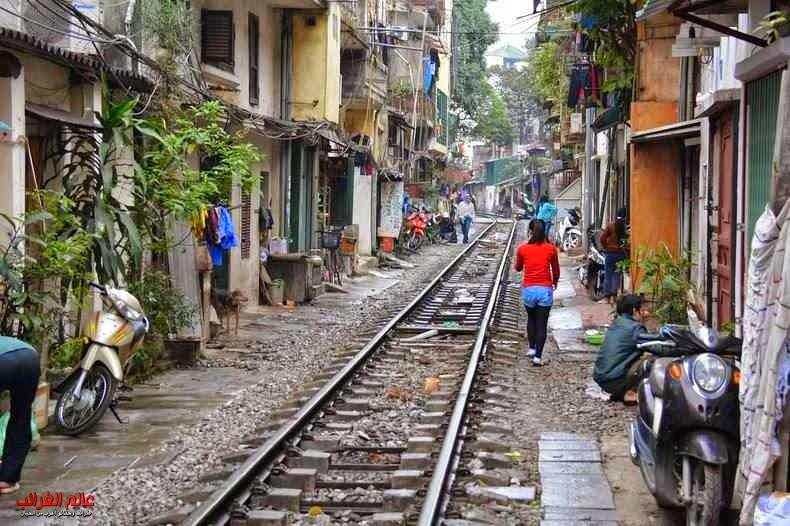 قطار، الأزقة الضيقة، فيتنام