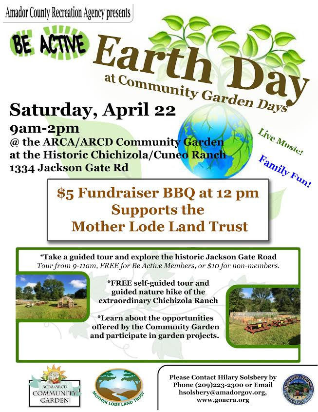 Earth Day at Community Garden Day - Sat Apr 22