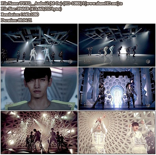 Download PV TVXQ / DBSK/ Tohoshinki - Android (Full Version) (M-On Full HD 1080i)