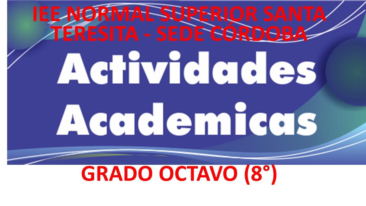 Actividades Académicas  del 20 de abril al 31 de mayo