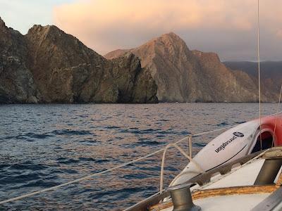 anchoring in Catalina harbor