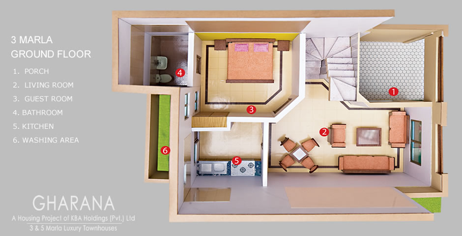 5 Marla House Floor Plan http://mkbdesigner.blogspot.com/2011/04/full-house-3d-map.html