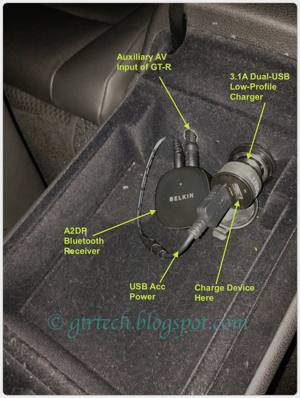 Nissan Gt R R35 Technical Diy Blog Adding Bluetooth A2dp Wiring Usb Harness Connection The Next Step Is Researching And Installing An Interface That Performs Both Avrcp So I Can Not Only Control Audio But Also Display