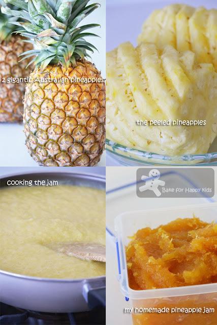 homemade pineapple tart jam