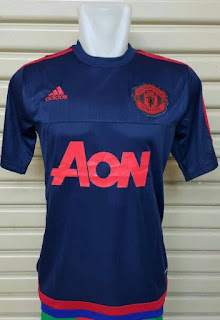 gambar photo Jersey training Manchester United warna biru navy terbaru musim 2015/2016 enkosa sport