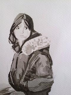 Clases de dibujo con tinta china A Coruña