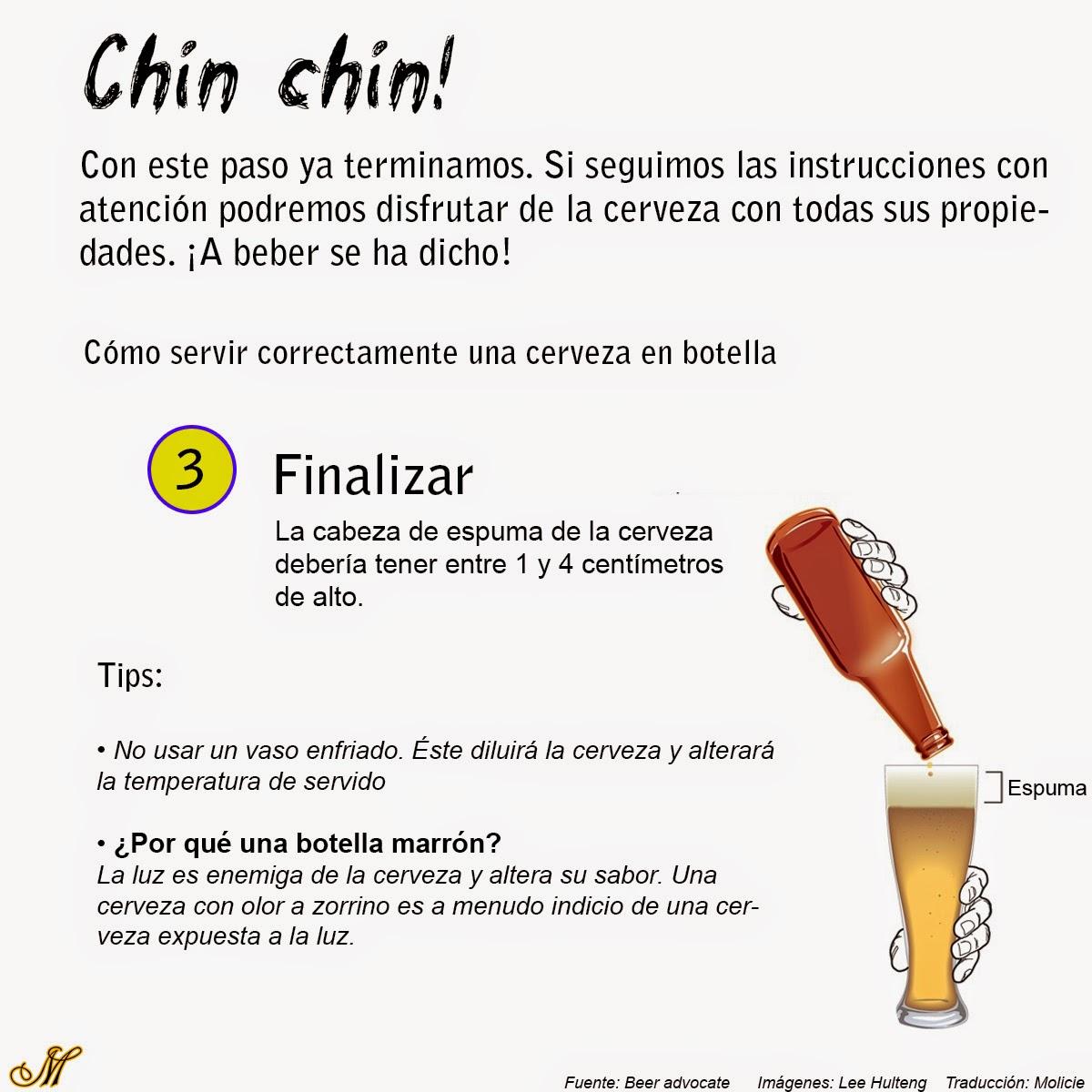 cómo servir cerveza 3