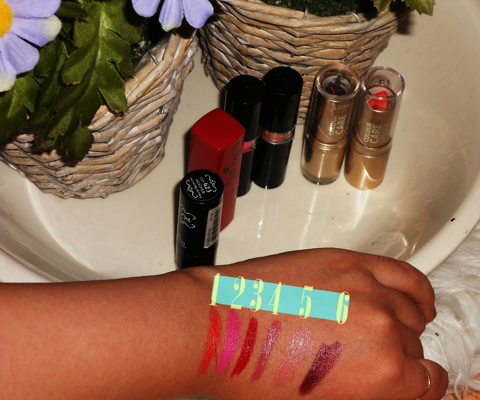Favorite Summer Lipsticks Orange Pink Red Plum Nude NYX Etos MissSporty Lanvin