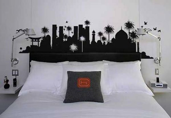 Design Your Bedroom Simple With WallStickerHeadboardIdeas Images