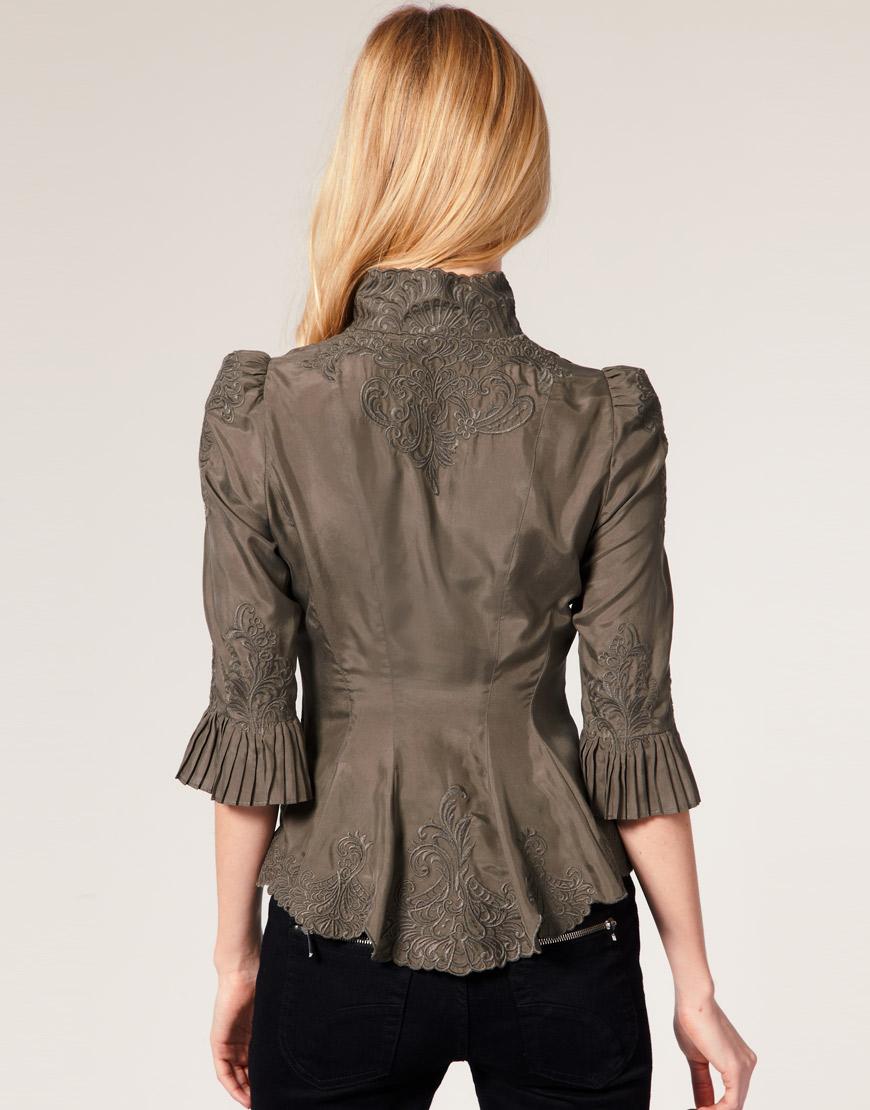 Karen Millen Lace Print Blouse 63