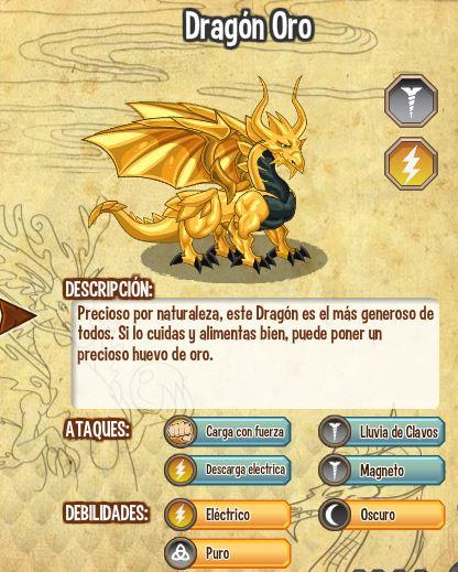 imagen del dragon oro y sus caracteristicas