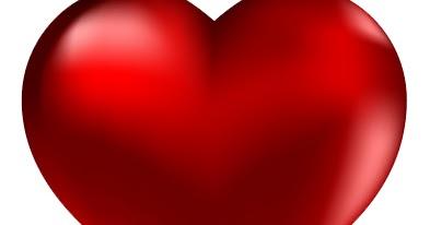 Las Imagenes de Amor Gran corazn rojo
