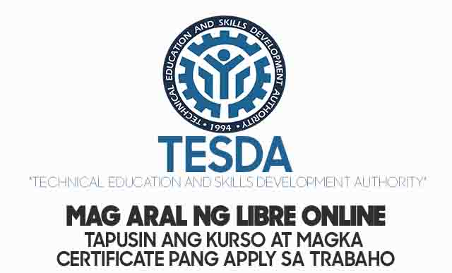TESDA Online Program College List of Courses