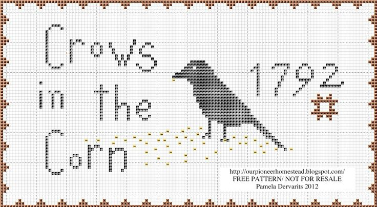 Impeccable image throughout free printable primitive cross stitch patterns