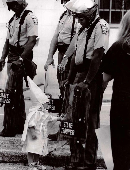 black cop baby ku klux klan