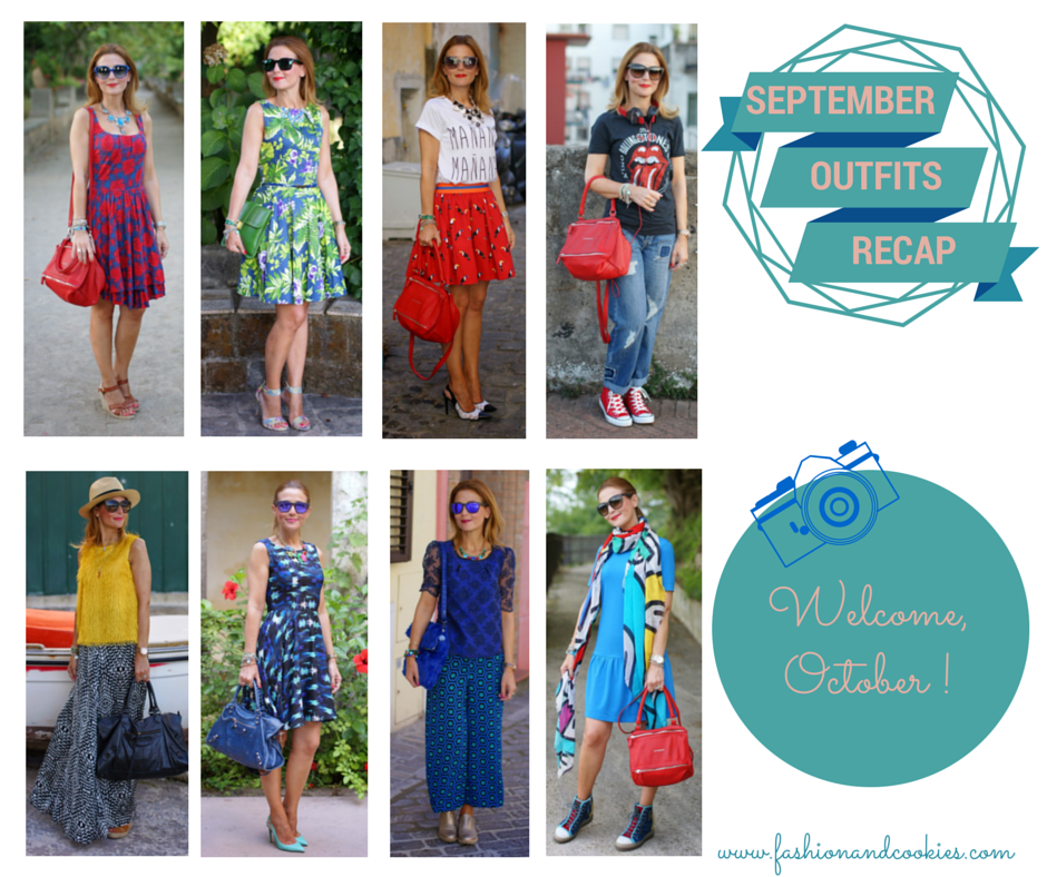September 2014 Outfits recap, Welcome October, Fashion and Cookies, fashion blogger