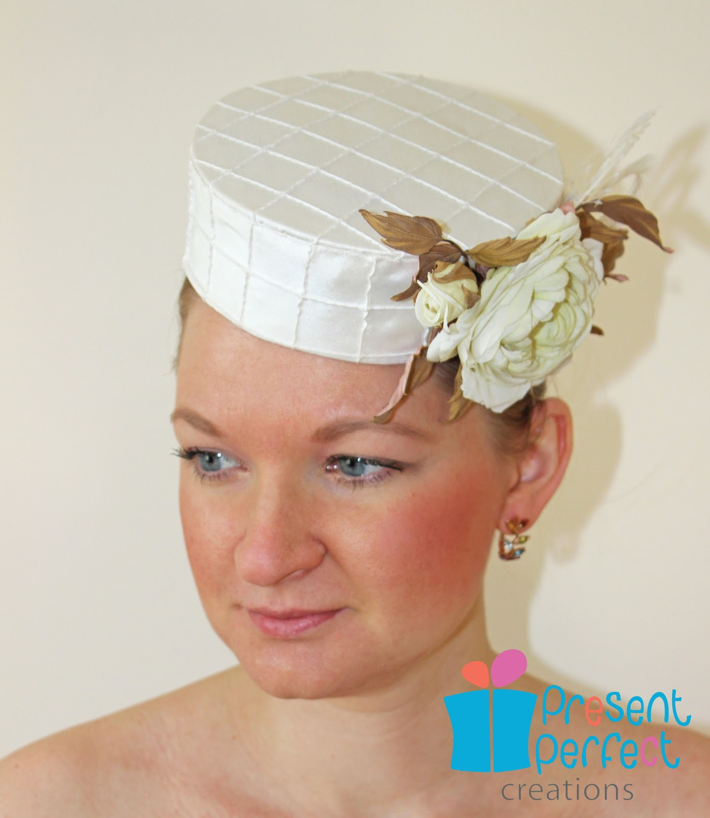 Present Perfect Creations: A pillbox hat with silk roses
