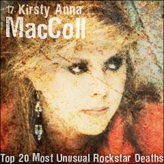 Top 20 Most Unusual Rockstar Deaths: 17. Kirsty Anna MacColl