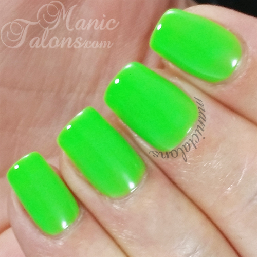 Madam Glam Neon Lime Green Swatch