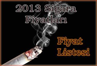 2013 Sigara Fiyat Listesi