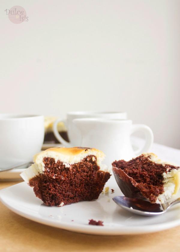 Cupcakes de Chocolate y cheesecake