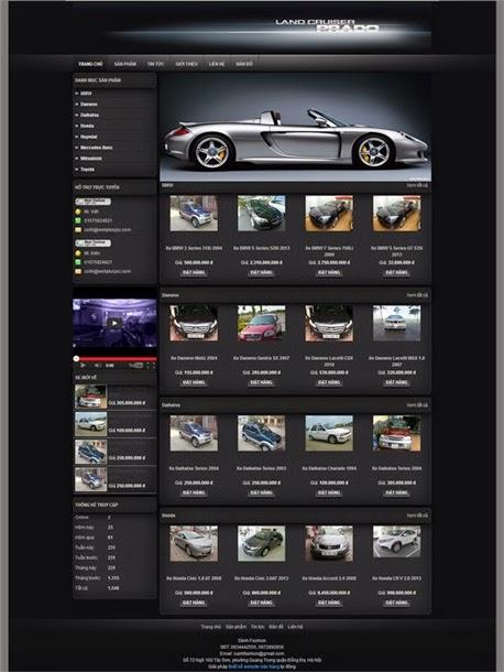 thiết kế website bán hàng ô tô