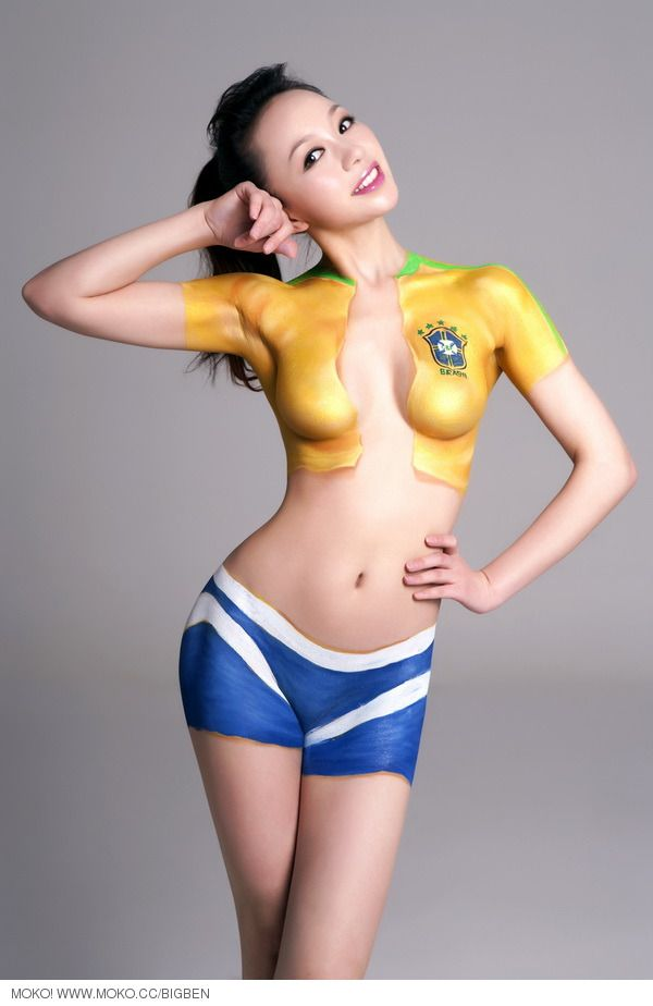 Body girl paint asian hot