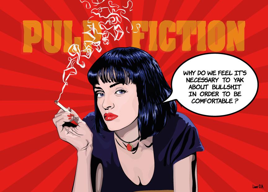 Uma Thurman Pulp Fiction Vector Pop Art Style Source Google