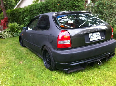 98 Civic EK Type R Carbon Fiber rear diffuser