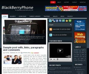 BlackBerry Phone Blogger Template