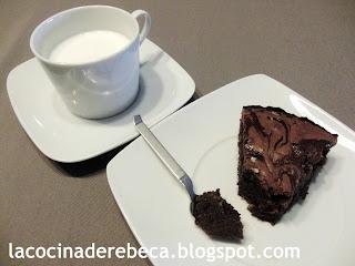 Brownie con dulce de leche
