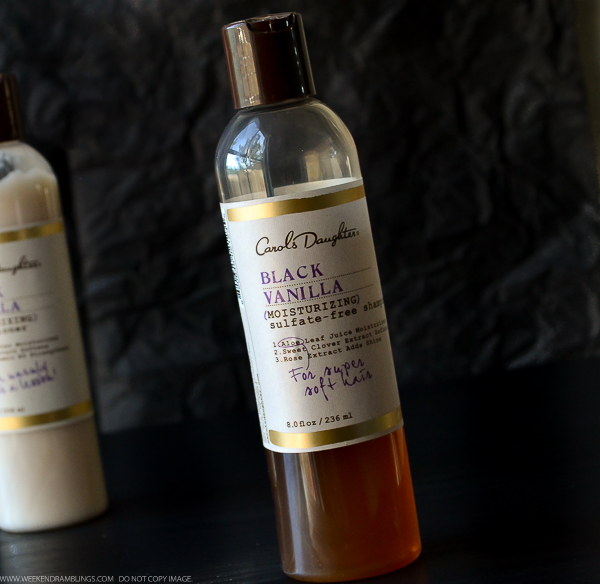 Carol's Daughter Black Vanilla Moisturizing Shampoo Conditioner Natural Hair Care Review Blog