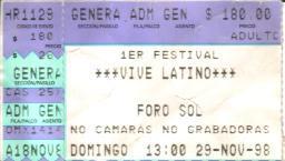 Resultado de imagen para vive latino 98
